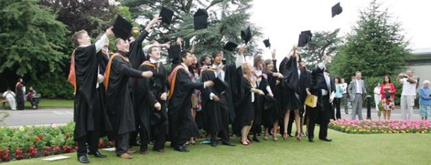DMU graduates celebrate  Copyright: DeMontfort University