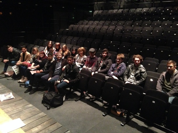 Front row - DMU arts ane entertainment journalism students at Curve