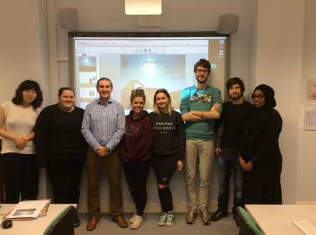 Simon McGrath, third left, with some of the Journalism students on the Magazine Publishing module