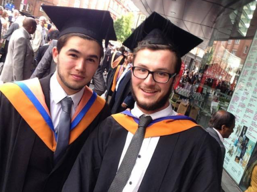 Conor (right) at graduation
