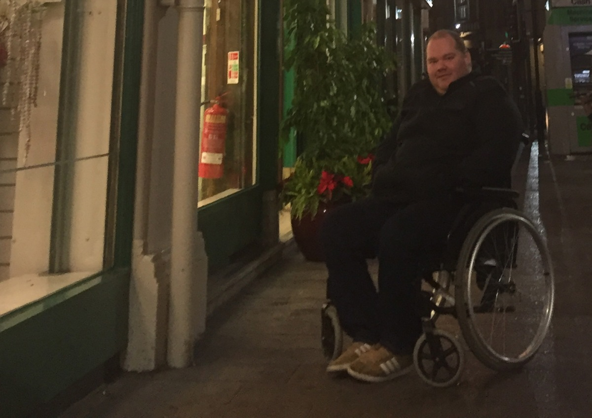 Braving the sales in my wheelchair