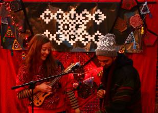 House of Verse perform at Leicester train station in December. Source - HouseOfVerse.