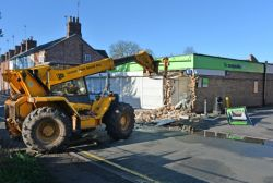 A Leicestershire branch of the Co-Op had its cash machine ripped out by a JCB. Source - Andrew Carpenter.