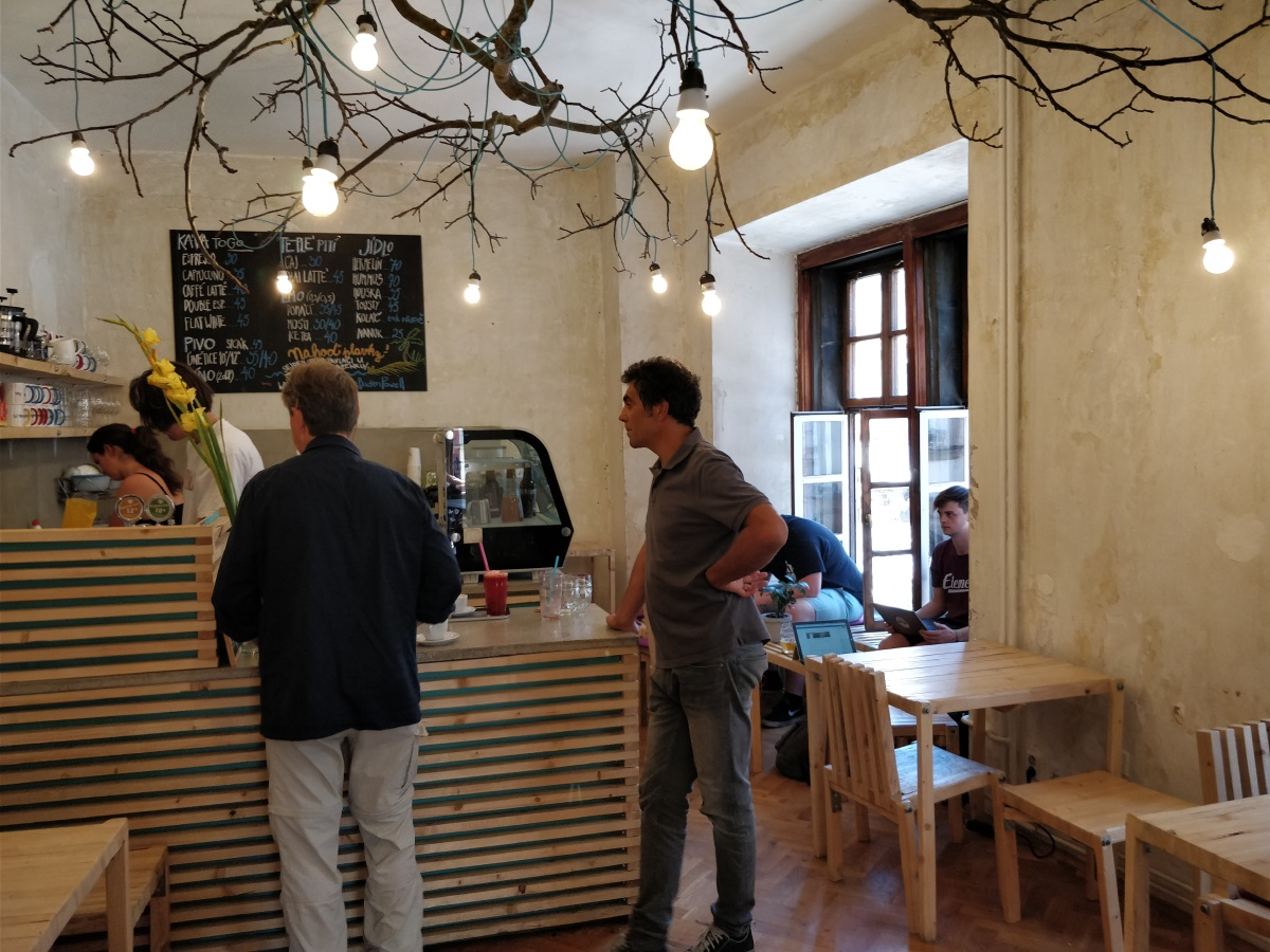 Scouting for Prague's best hidden café