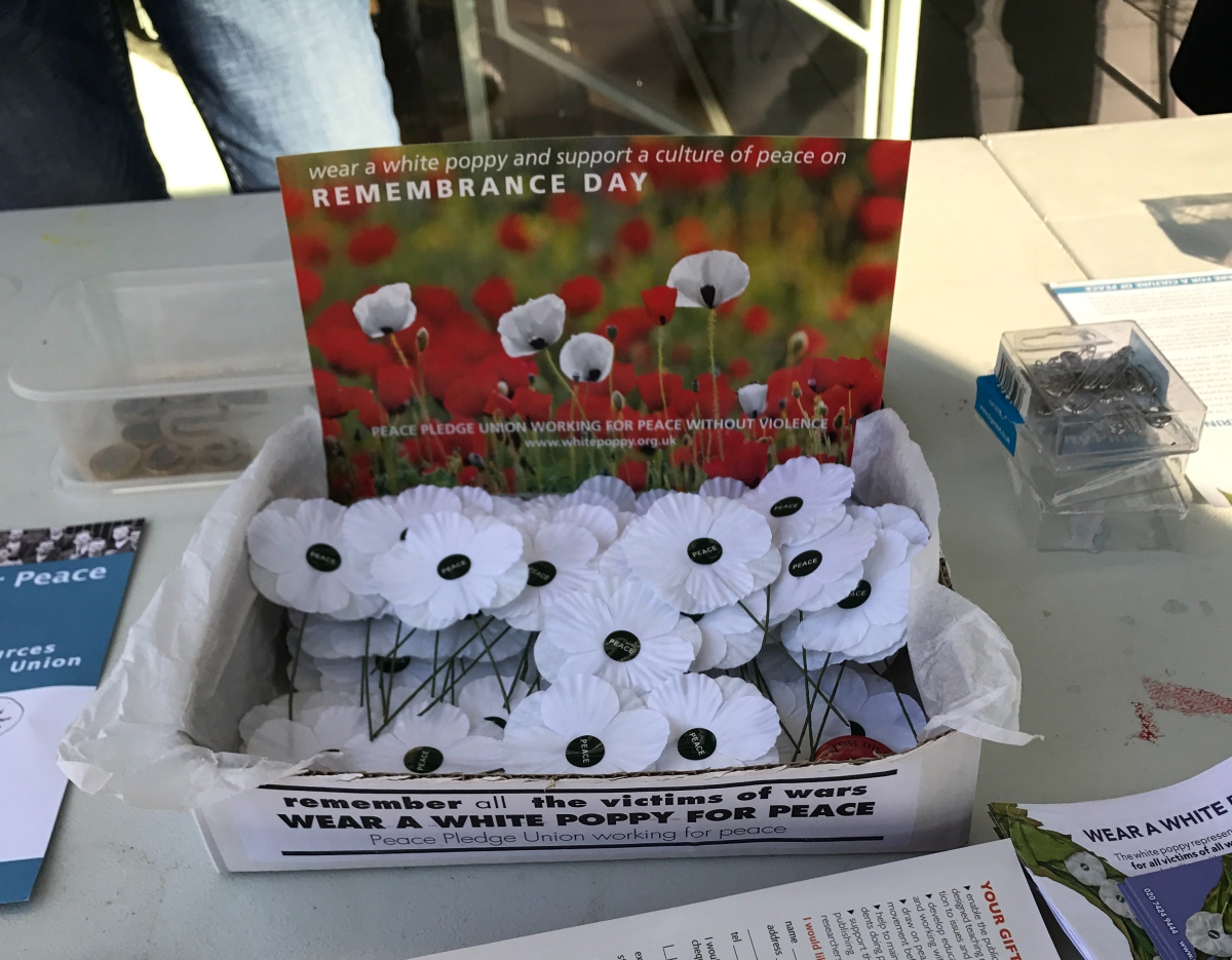 White Poppy sellers cause a stir on campus