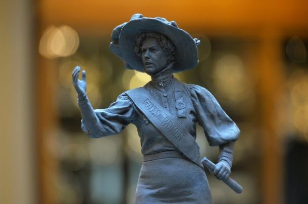 A small model of the Alice Hawkins statue. Source | Leicester City Council.