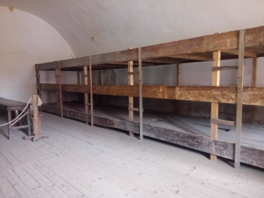 The beds where the prisoners used to sleep