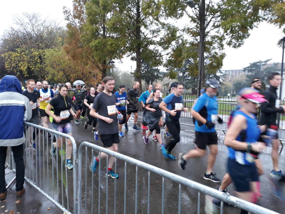 VIDEO: Thousands enjoy rain-soaked Leicester Marathon