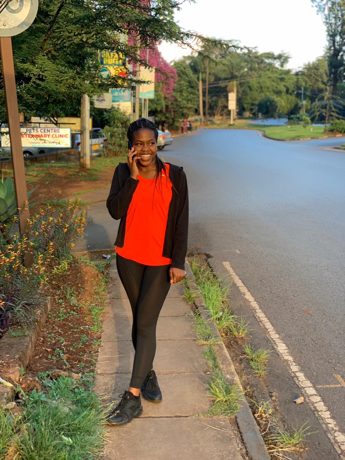 Elena at home in Nairobi, Kenya.
